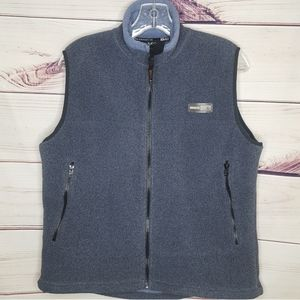 REI Polartec Chambray Blue Zip Up Vest L